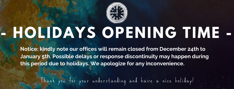 DURING HOLIDAYS TIME: Possible delays or response discontinuity may happen